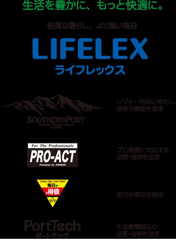 生活を豊かに、もっと快適に。 快適な暮らし、より良い毎日 LIFELEX ライフレックス